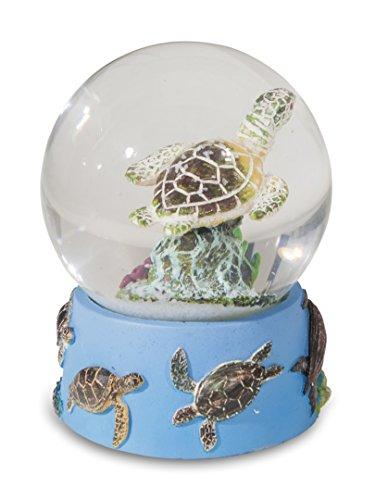Katerina Prestige- Figur Schneekugel Schildkröte Dekor Marine, ME0750