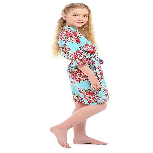 HZKF Kinder Katoen Print Pyjama Lente Comfortabele Mid-length Vest Dun Meisje Nachtkleding