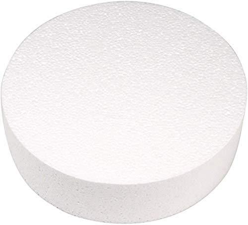 Rayher, Disco in polistirolo, Diametro: 25cm, Altezza: 7cm, Ideale Come Base per Torte o Torte finte