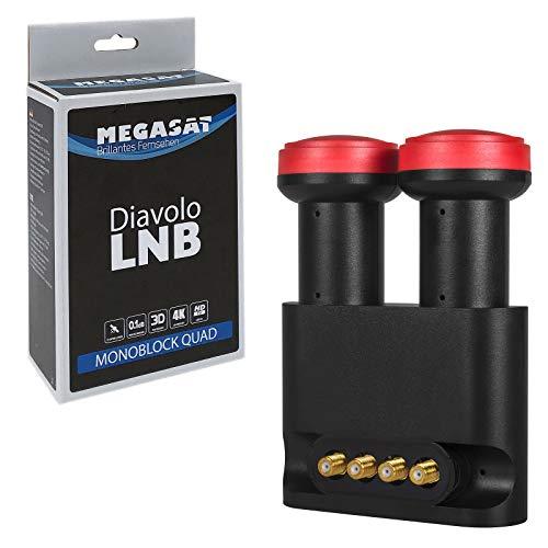 Megasat Diavolo Monoblock Quad LNB 0.1 dB, 40 mm
