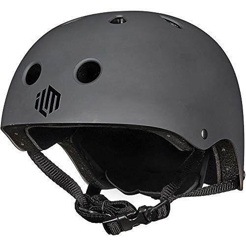 ILM Kids Youth Skateboard Helmet Impact Resistance Ventilation for Skateboarding Scooter Outdoor Sports(Gray,XXS XS)