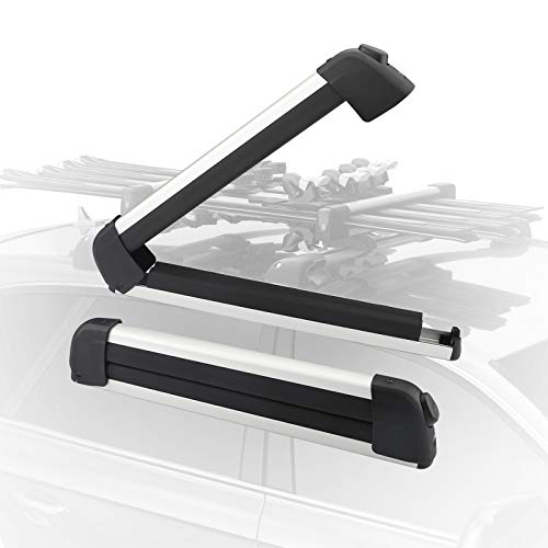 22 inch Ski & Snowboard Car Racks, Universal Ski Carriers Fit 4 Pairs of skis or 2 Snowboards