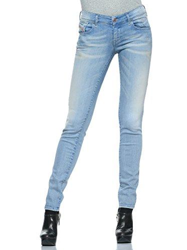 Diesel Dżinsy legginsy niebieskie