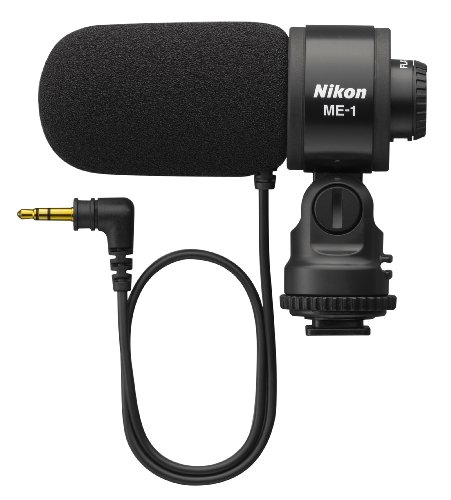 Nikon ME-1 - Micrófono (Cámara Digital, 70-16000 Hz, Alámbrico, Uni, Negro, 3.5mm)