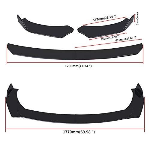 Nuevo separador de labios de parachoques delantero Universal ajustable para coche, Kit de cuerpo de labios, difusor de alerón