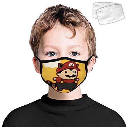 835 antipolvere copertura facciale decorazione lavabile riutilizzabile Wrap Side 2PCS filtri per bambini Super Ma-rio Carino Taglia Unica