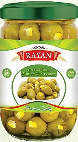 Groene Olijven Gevuld met Citroen 450g Pot (Rayan Londen)