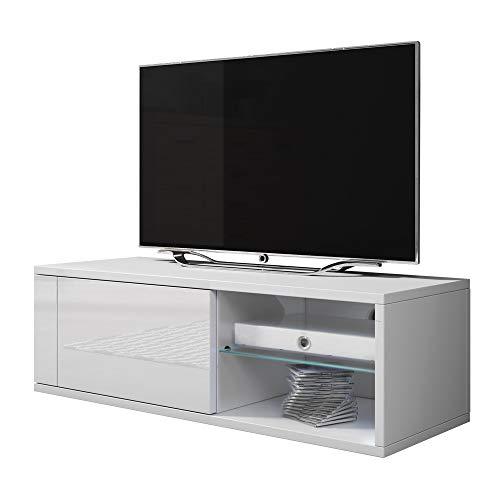 TV Meuble Élégant 2 Double avec LED bleu