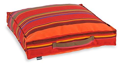 H.O.C.K. Matratzenkissen Sitzkissen Stuhlkissen Kissen Auflage Outdoor 50x50x10cm Yucatan rot