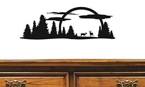 Design with Vinyl US V JER 2397 3 Top Selling Decals Nature Scenery Wall Art Size: 20 Inches X 40 Inches Color: Black, 20  x 40