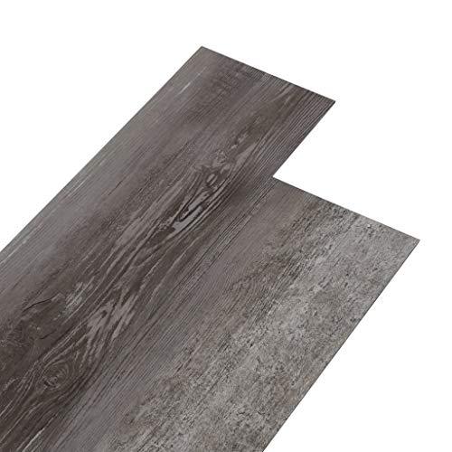 Irfora PVC-Laminat-Dielen PVC-Fußboden-Set Bodenbelag 4,46 m² 3 mm Schimmelbeständig, Antiallergen, Antistatisch Selbstklebend Zementgrau/Gestreift Grau/Industriell Holz/Gestreift Holz