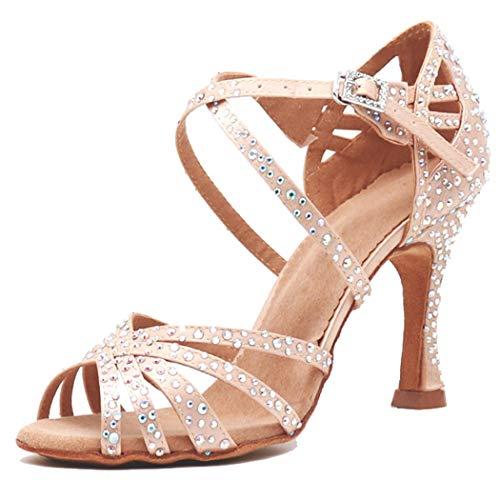 MGM-Joymod vrouwen Peep teen kruis riem strass steentjes Sociale Tango Ballroom Latijn Moderne Dans Schoenen Bruiloft Party Sandalen