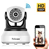 Caméra IP sans Fil, Sricam WiFi Caméra Surveillance Détection de Night Vision, 2 Voies Audio, Alerte de détection de...