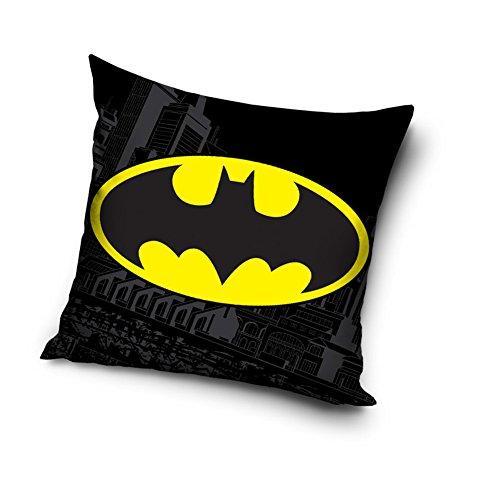 Federa per cuscino con il logo decorativo di Batman, lato di 40 cm, 100% cotone, per la camera dei bambini