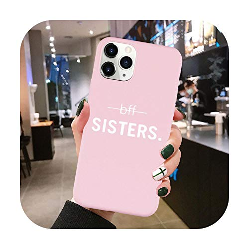 Best Friends Forever BFF - Custodia in silicone per iPhone 11 Pro XS Max XR X 8 7 6 6S Plus SE 2020 Soft Sisters bff 5-iPhone 11 Pro