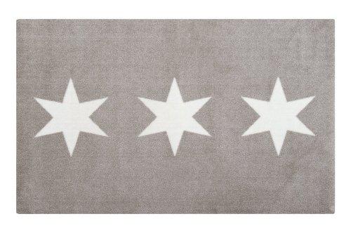 Gift Company - waschbare Fußmatte, Fußabtreter, Matte - Stars, Sterne - Farbe: Schlamm - 80 x 120 cm