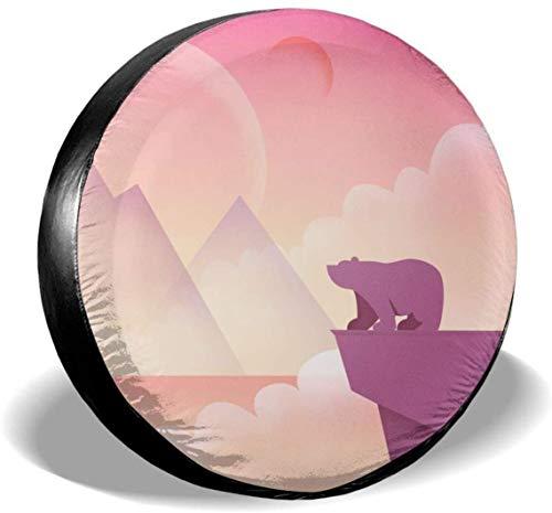MODORSAN Bear Pink Fantasy Cubierta de neumático de Rueda de Repuesto de poliéster Cubiertas de Rueda universales para Jeep, Remolque, RV, SUV, camión, Accesorios, 15 Pulgadas