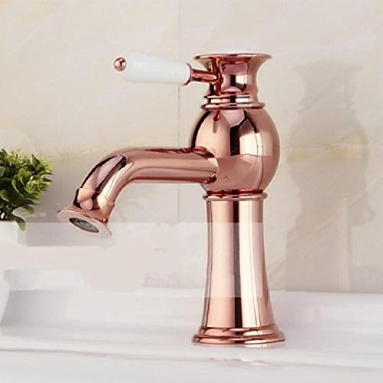 Robinet de lavabo style Européen finition or pink