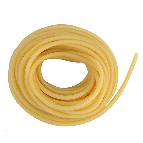 3x5mm Natural Latex Rubber Gummiband Tube Tubing Ersatzgummi für Steinschleuder Zwille Schleuder, gelb (3 Meter)