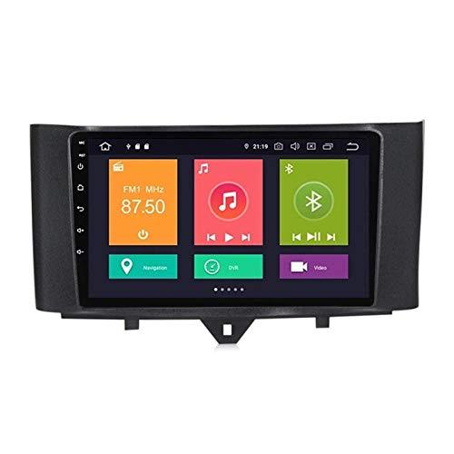 BIEKANNM Estéreo de Coche con Unidad de Cabeza Doble DIN Android 10.0 para Benz Smart 2011-2015, navegación GPS, Pantalla táctil de 9 Pulgadas, Bluetooth/FM/DSP/cámara Trasera,4 Core-WiFi: 2+32G