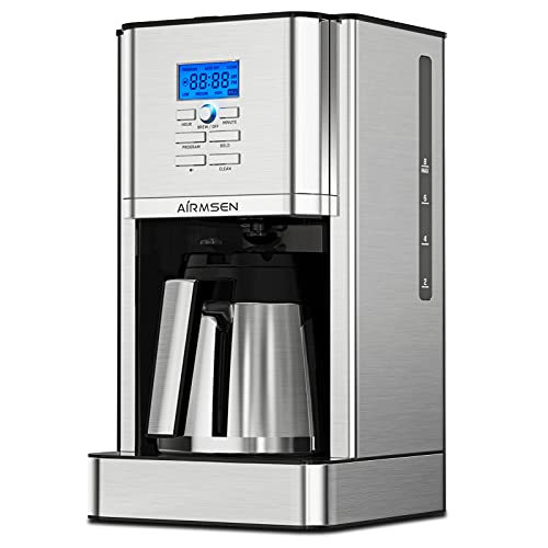 AIRMSEN Programmable Coffee Maker with Thermal...