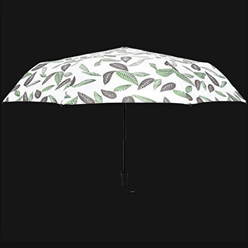 LYMUP Paraguas Plegable Soleado Lluvia, Estudiante Sol Paraguas UV Paraguas