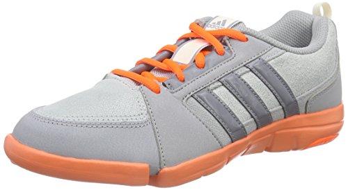 adidas Performance Mardea, Chaussures de Handball américain Femme, Gris (Mid Grey S14/Grey/Solar Orange), 40