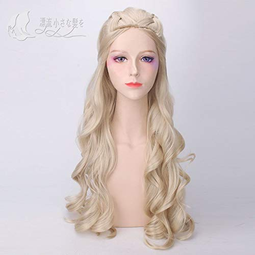 Cosplay pruik Blond lang krullend haar Daenerys Targaryen Zonder pony Idyllisch 2