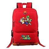 Mochila de Super Mario Bros, Bolsa de Libro para Estudiantes Bolsa de Viaje para Hombro para...