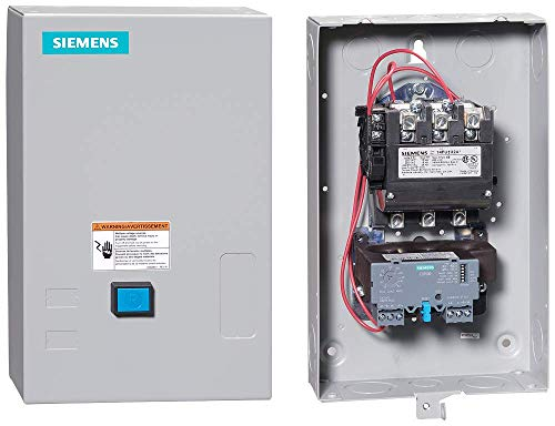 Siemens 14FUF32BC Heavy Duty Motor Starter, Solid State Overload, Auto/Manual Reset, Open Type, NEMA 1 General Purpose Enclosure, 3 Phase, 3 Pole, 2 NEMA Size, 13-52A Amp Range, B Frame Size, 220-240/440-480 at 60Hz Coil Voltage