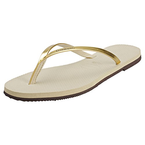 Havaianas You Metallic, Sandalias para Mujer, Dorado (Sand Grey/Light Golden), 39/40 EU