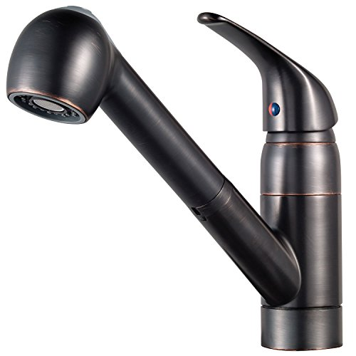 Pfister G13310YY Pfirst Series 1-Handle Pull-Out Kitchen Faucet in Tuscan Bronze, Water-Efficient...
