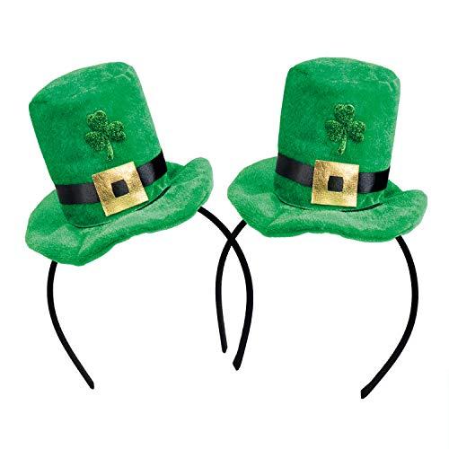 com-four® Leprechaun, Kobold Kostüme zum St. Patricks Day - Outfits und Accessoires für das grüne, irische Fest - Für Fasching, Fastnacht, Karneval, Parade, Motto-Party, Irish Pub (02 Stück - Set09)