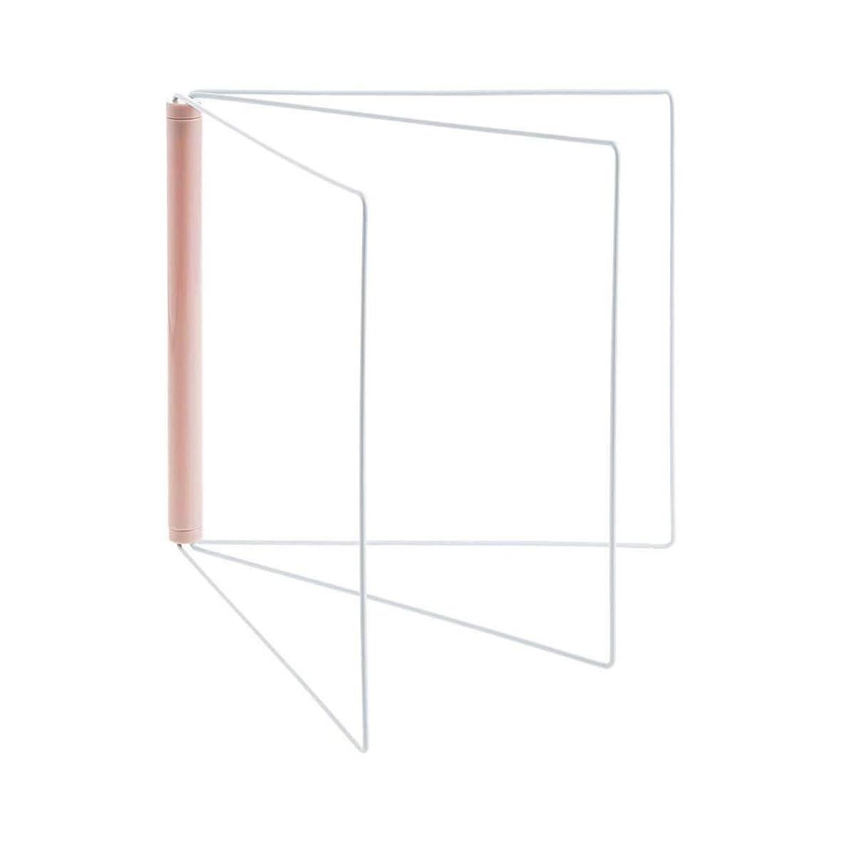 骨の折れるチップ観点蜂の巣 折り畳み布巾ハンガー 雑巾掛け キッチン 台所 収納 スタンド式 (ピンク)