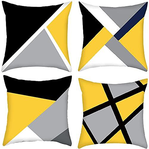Set di 4 pezzi Copricuscini, Federa per Divano, Geometrici Cuscini Fodere, Cuscino Decorativo Caso,...