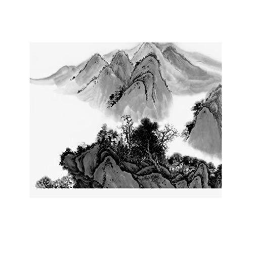 Moderne Neue Freihand abstrakte Tinte Wandtapete des neuen chinesischen Stils