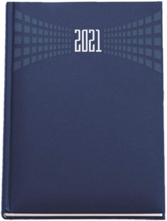 Agenda giornaliera 2021 mis 15x21 BLU