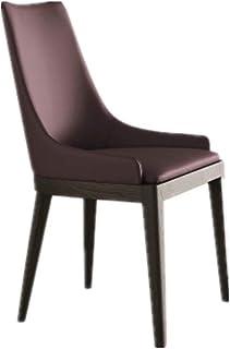 Sillas de comedor Simple Light lujo respaldo for silla de comedor de madera maciza Inicio Silla de comedor for sala de estar y comedor Cocina Comedor Muebles ( Color : Dark red , Size : 52x52x92cm )