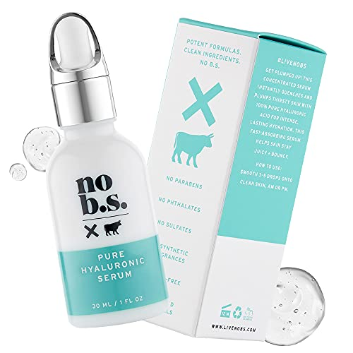 No B.S. 100% Pure Hyaluronic Acid Serum For Face. Anti Aging Face Serum. Ultra Hydrating Face Serum. Potent Formulas. Clean Skincare.