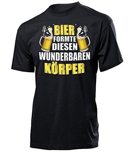Bier formte diesen wunderbaren Körper 4862 Oktoberfest 2020 Männer Wiesn Lederhose Herren t Shirt Tshirt t-Shirt Bavaria bayrisch München Party Bier kostüm Tracht-en Hemd Lederhose Fun