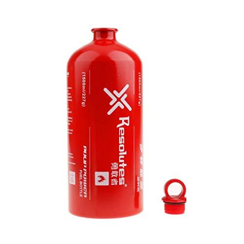 Aluminium Ölflaschen/Spiritusflaschen/Benzinflaschen usw. Brennstoffflaschen Camping Fuel Bottle für Outdoor Camping, BBQ, Grill Gas- Ölbehälter - Größe Auswählbar (1500ml)