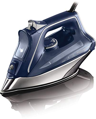 Rowenta ProMaster DW8215D1 Plancha de Ropa con Golpe 200 Vapor Continuo de 40 g/min, Suela Microsteam 400 HD Profile, Modo Eco y Sistema antical Integrado, 2800 W, 0.3 litros, Azul