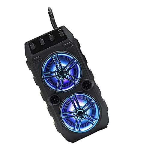 MagiDeal Altavoz Portátil Bluetooth, Altavoz Inalámbrico, Barra de Bújanos Ricos con Motor USB, Reproductor Musical Multimedia de Sonido Estéreo para El Hogar - Azul