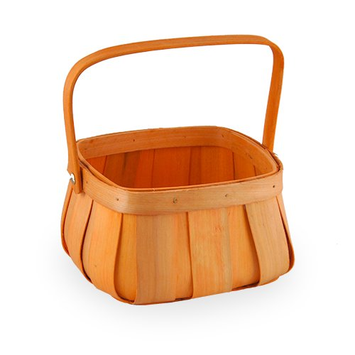 The Lucky Clover Trading Harvest Woodchip Fruit Basket with Swing Handle - Small