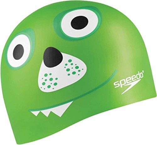 Speedo Silicone Junior 'Critter Creeps II' Swim Cap, Lime