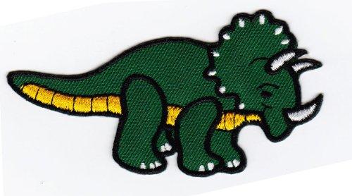 Aufnäher Bügelbild Aufbügler Iron on Patches Applikation Dinosaurier Pentaceratops Triceratops