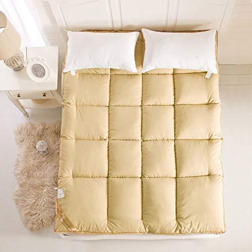 QINFEN Foldable Mattress,Non-slip Mattress Topper,Lightweight,Thicken Mattress Mattress Tatami Mats For Student Dorm Room Household Bedroom-yellow 120x200cm(47x79inch)