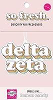 Delta Zeta レトロエアフレッシュナー 2個パック