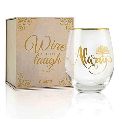 Always Gifts Copa de vino sin tallo de 17 oz con Doe, Copa de vino Patronus, perfecta para aniversario, pareja, Navidad, Acción de Gracias, Regalos de cumpleaños