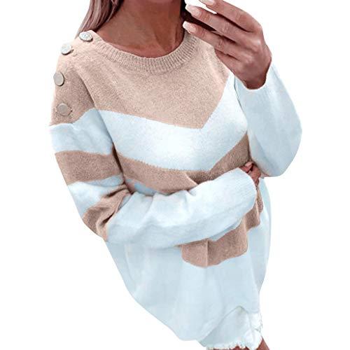 Maglione da Donna Invernale Donna Maglione Lunghi Casual Manica Lunga O-Collo Invernale Tumblr Sweater Elegante Unico Maglioni di Maglia Maglieria